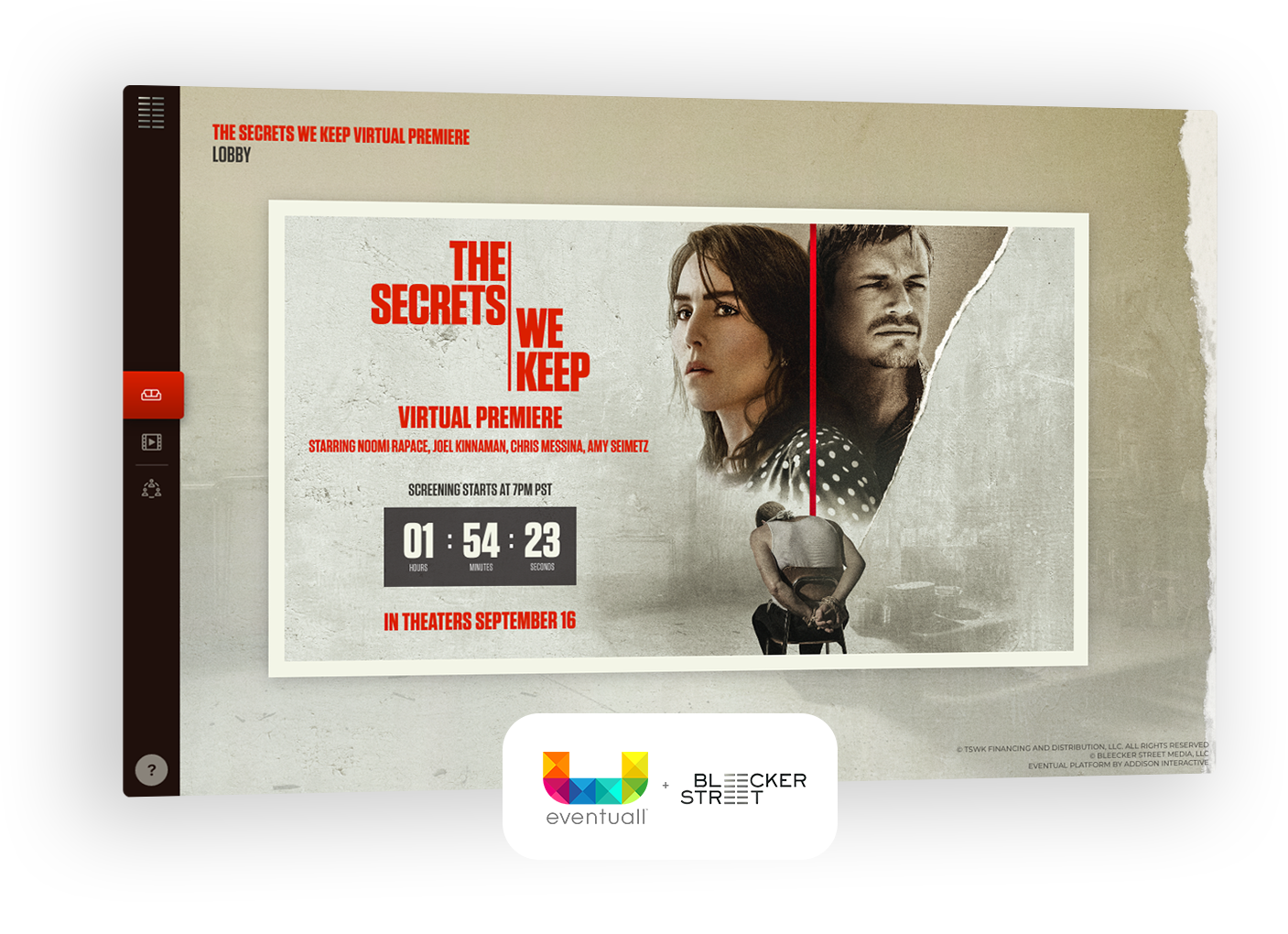 The Secrets We Keep Virtual Premiere. A Partnership between Bleecker Eventuall®