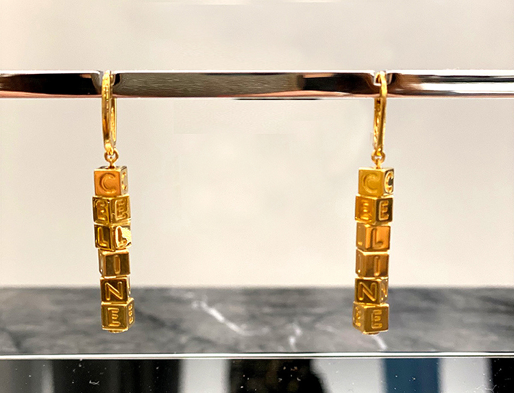 BRASS EARRINGS WITH GOLD FINISH, RM3,400, CELINE