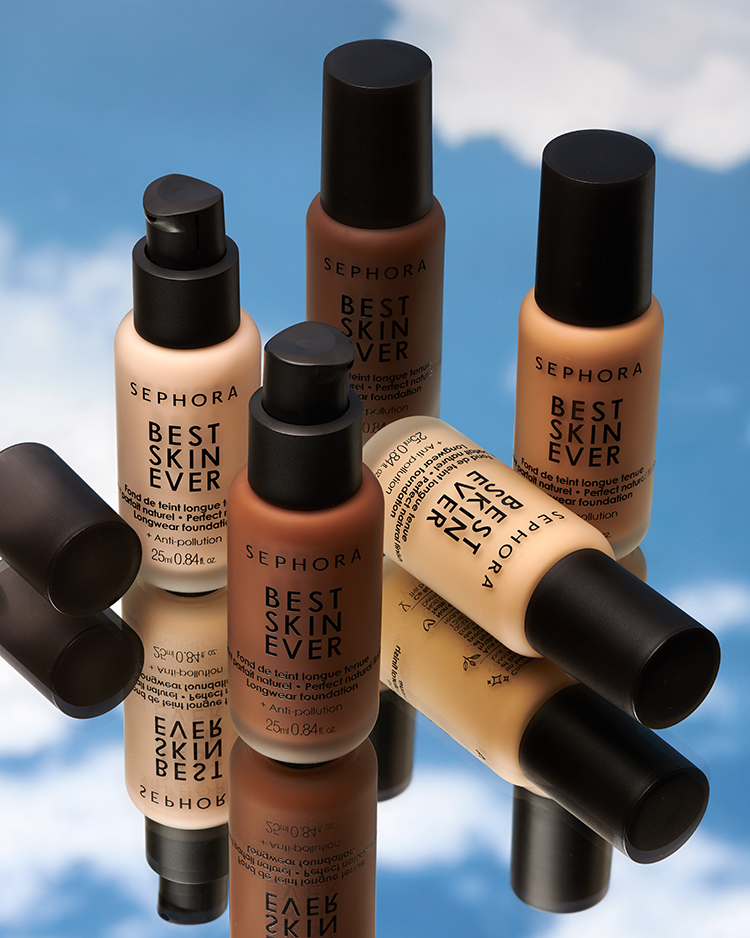Four shades of the Sephora Collection Best Skin Ever Foundation
