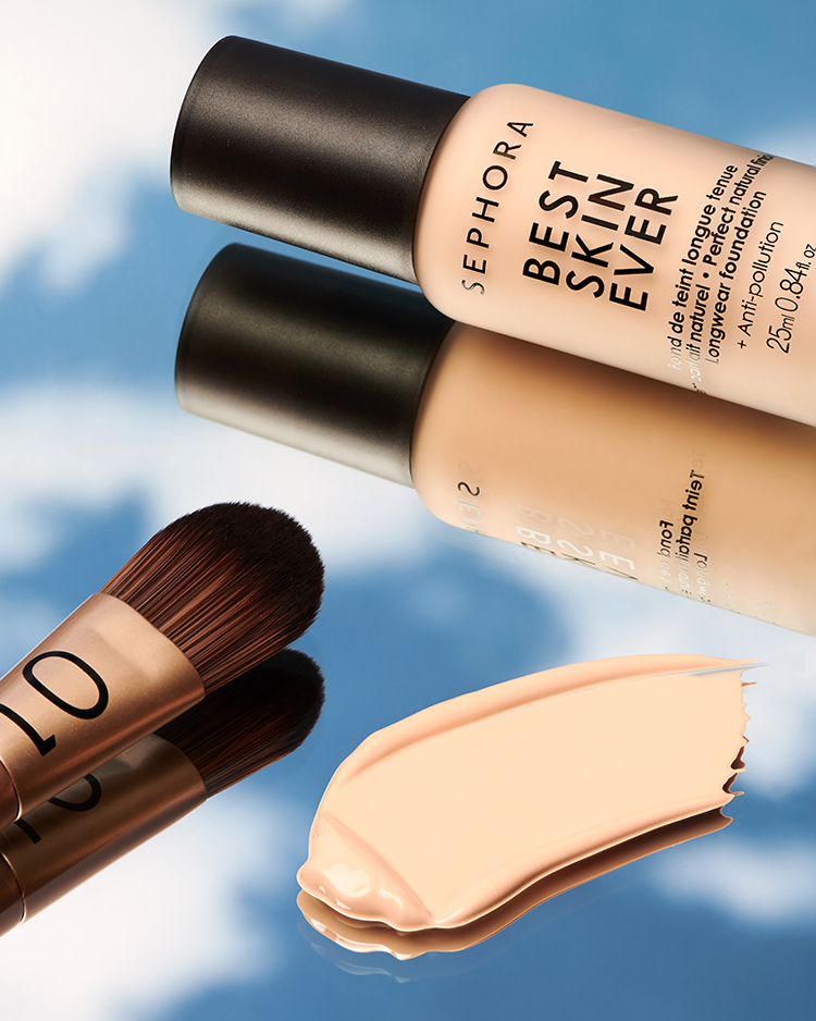 Sephora Collection Best Skin Ever Foundation with foundation brush