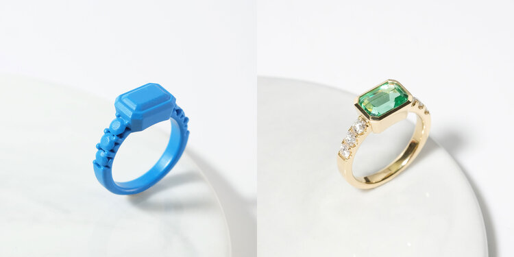 3D Printed ring for customised rings at Zcova