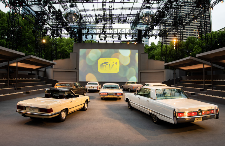 The set up at Coach Winter Collection Show at Shanghai Exhibition Center in China