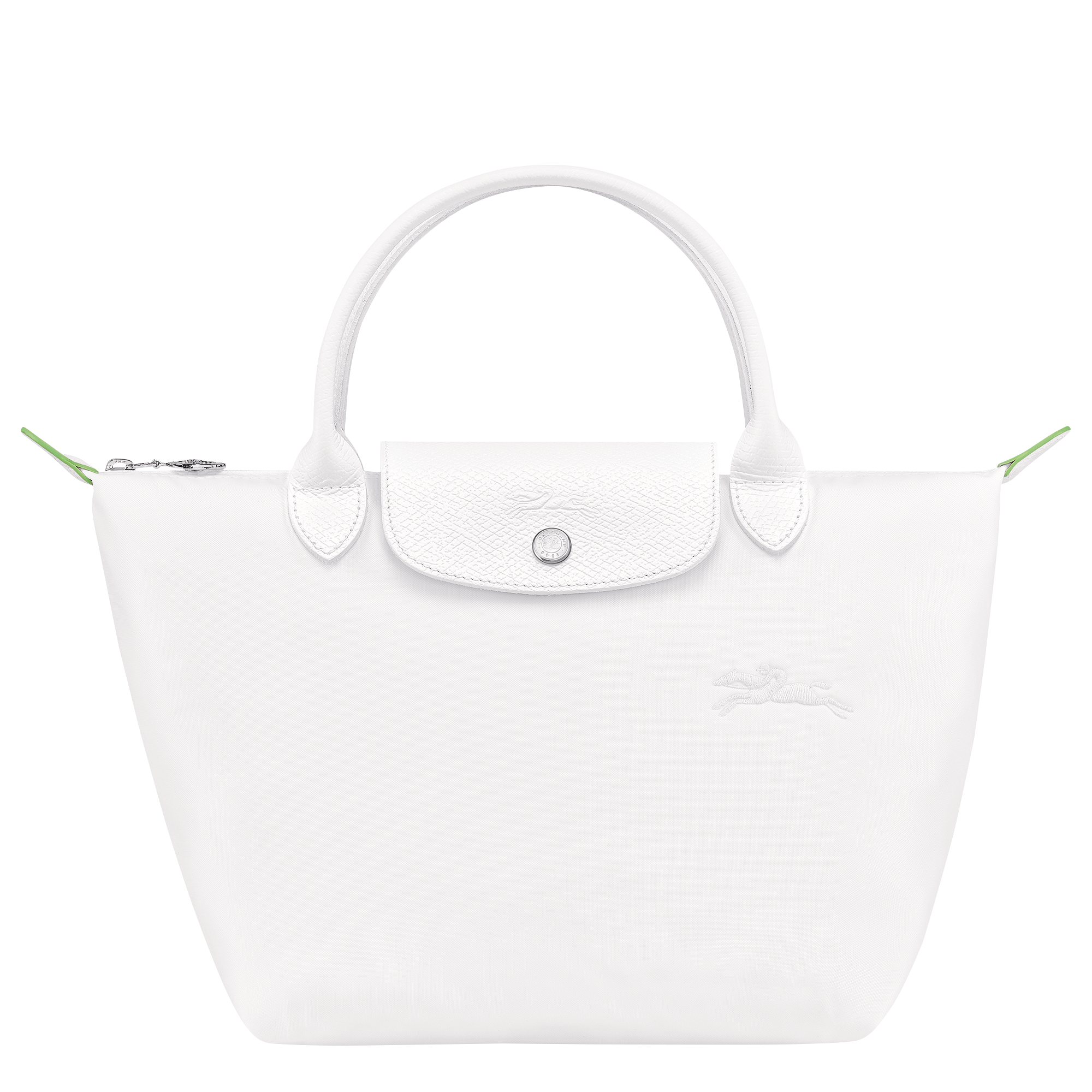 'LE PLIAGE®' GREEN TOP HANDLE BAG S IN SNOW, RM535