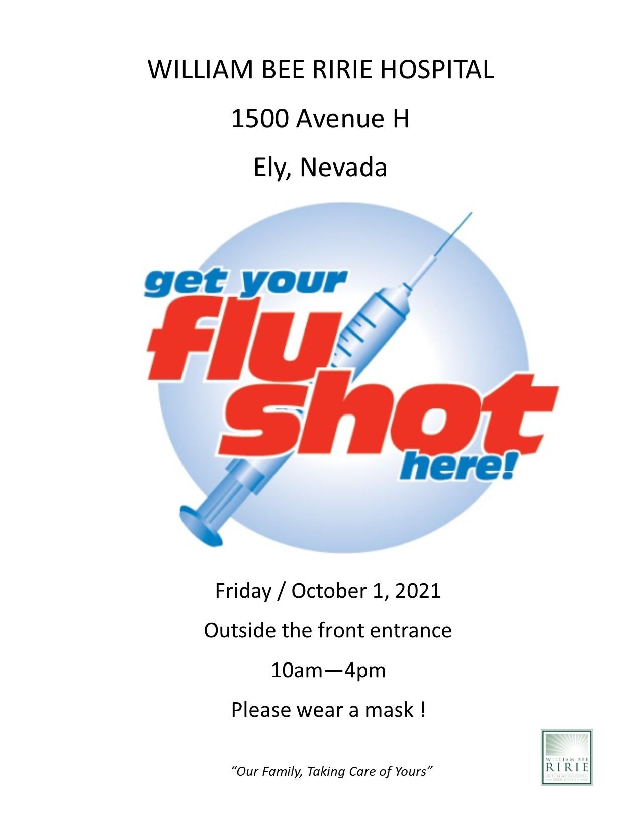 Flu Shots available Oct. 1, 2021