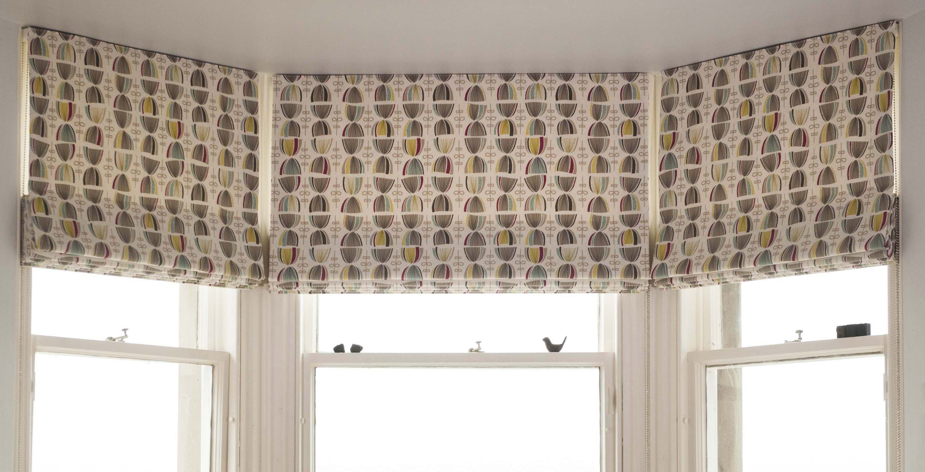 Roman blinds with custom fabric