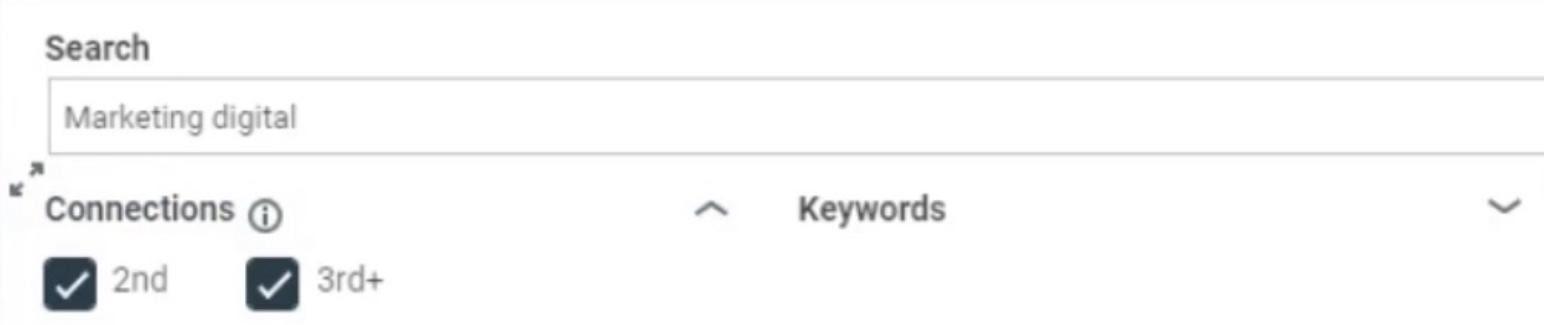 search keywords linkedin