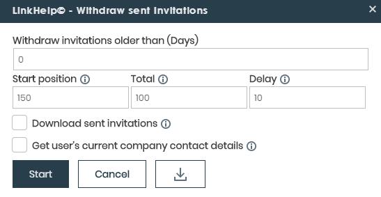 withdraw sent invitations