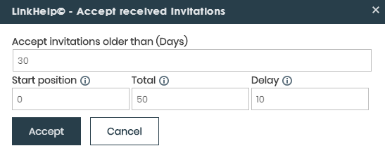 accept received invitations