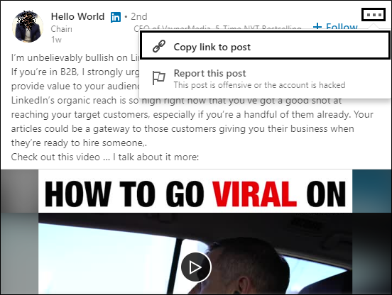 How to get video ID on LinkedIn - LinkHelp