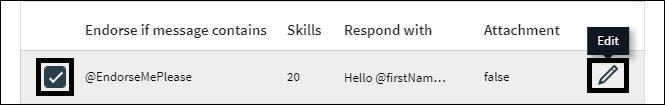 Auto endorse skills with auto responder