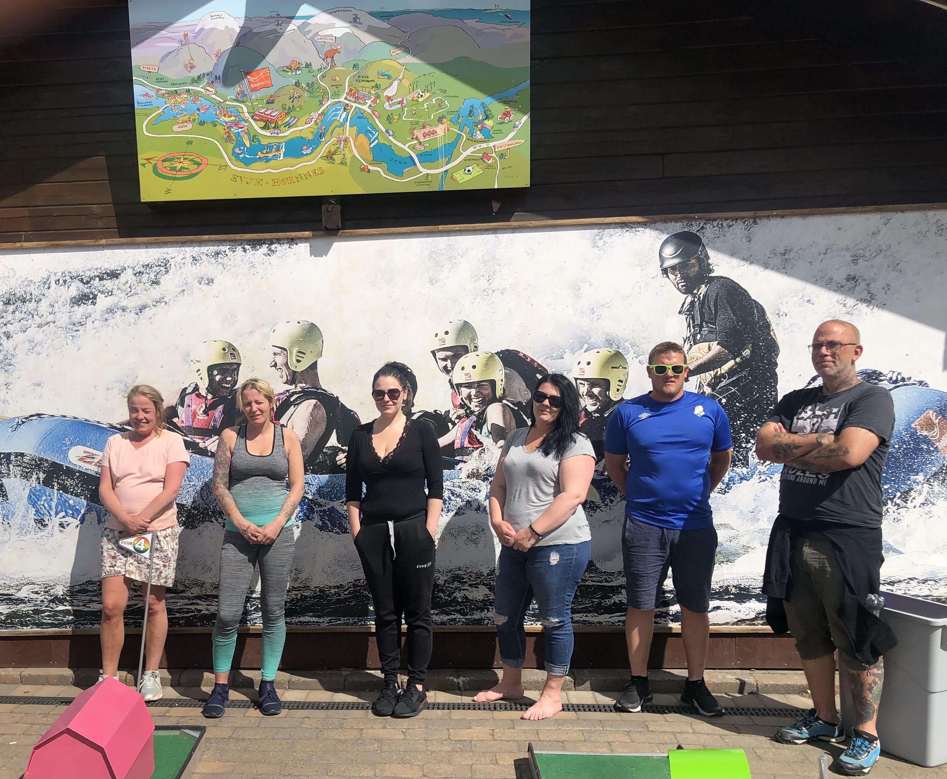 Ridegruppa vår fra AGR har på bare et lite halvår dannet et godt fellesskap. Foto: Liv Ekeberg
