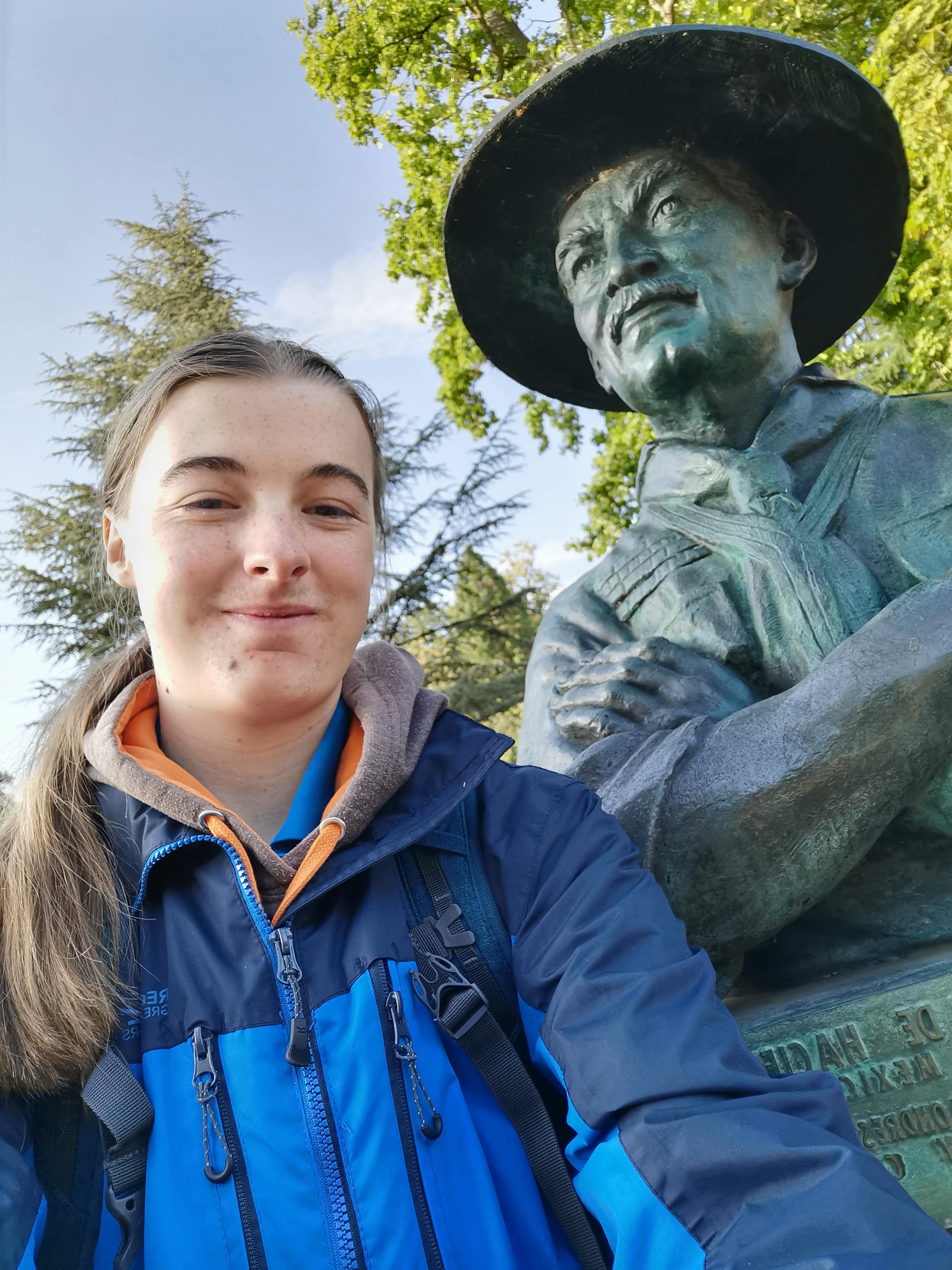 Me and Baden-Powell Statue