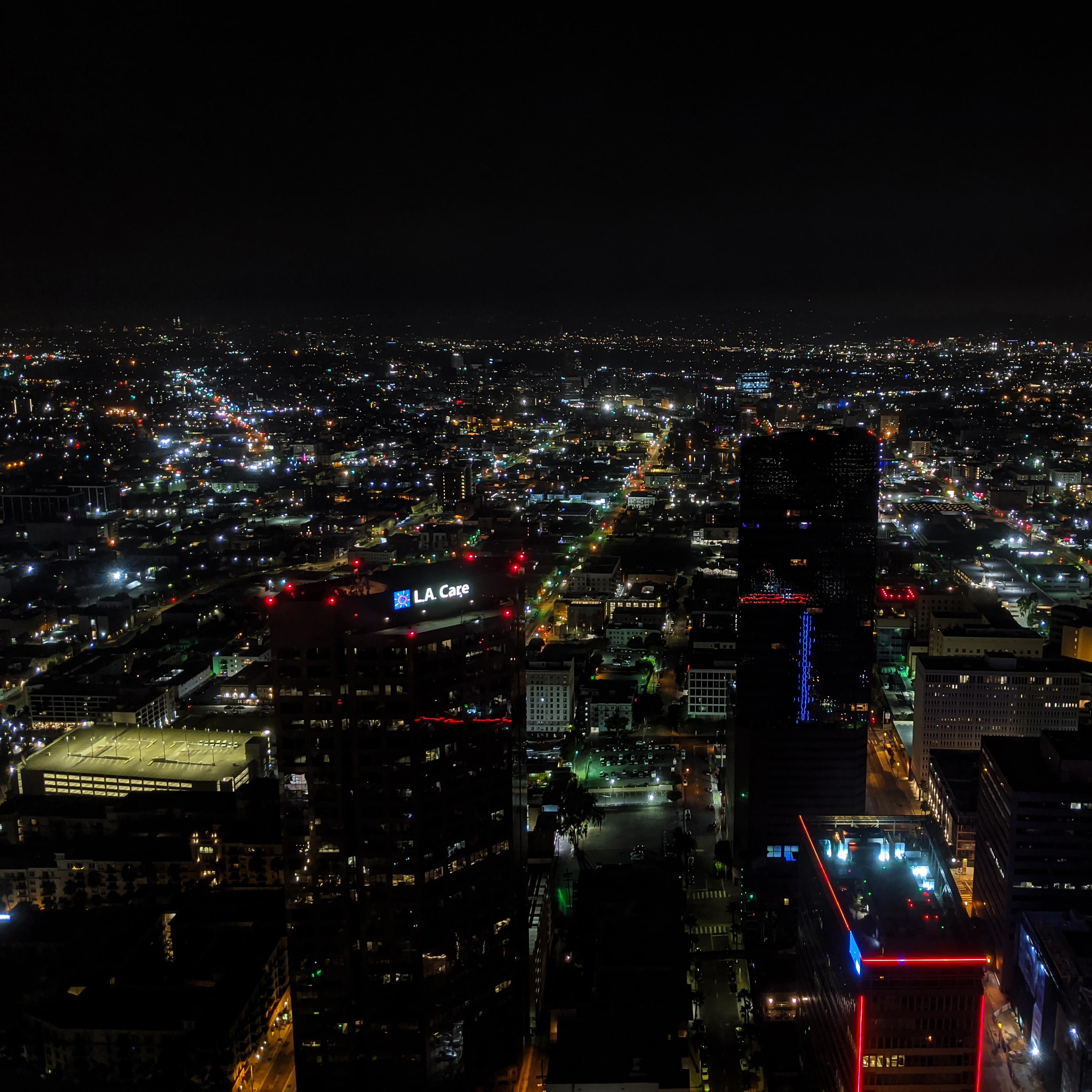 Ariel view of Los Angeles