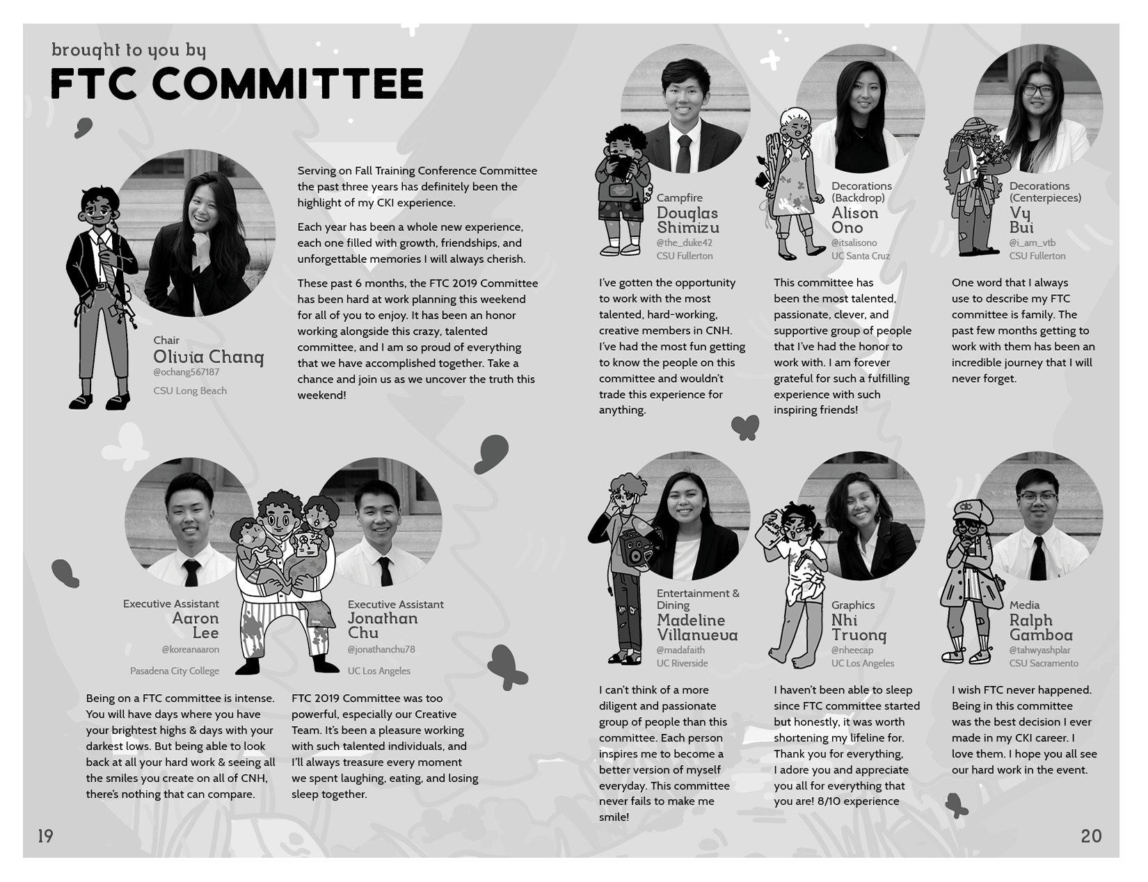 Committee page layout