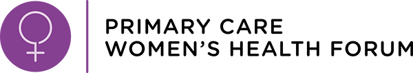 Primary care women's health forum logo