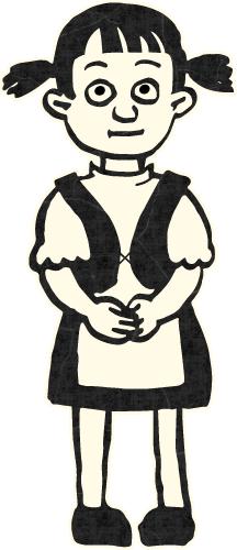 Laulajahahmo: pieni tyttö