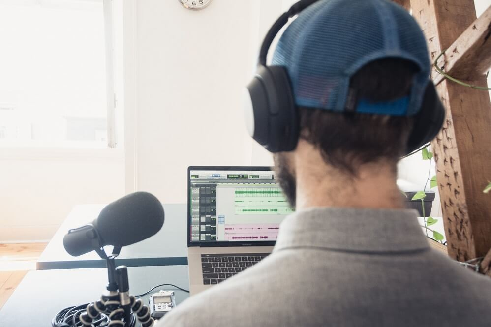 during the podcast recording - guest view