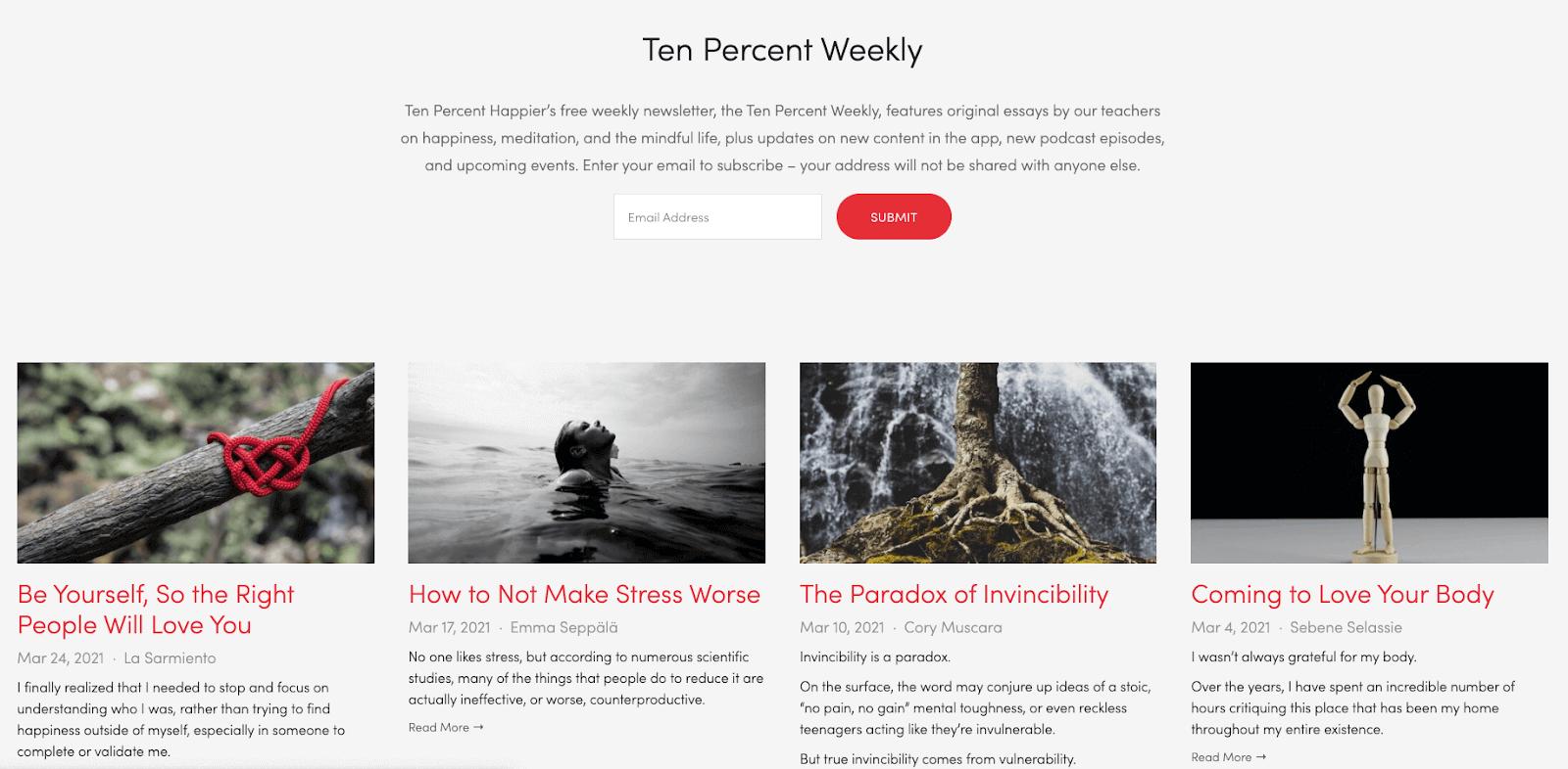ten percent weekly
