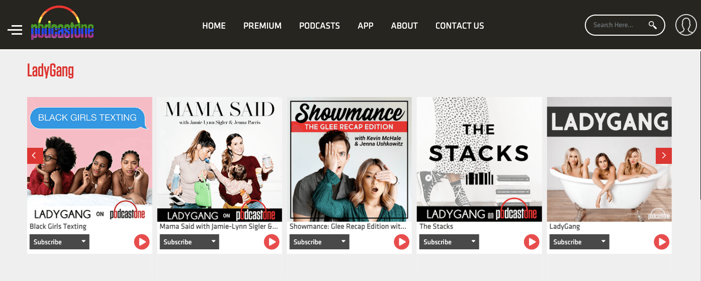 LadyGang podcast network