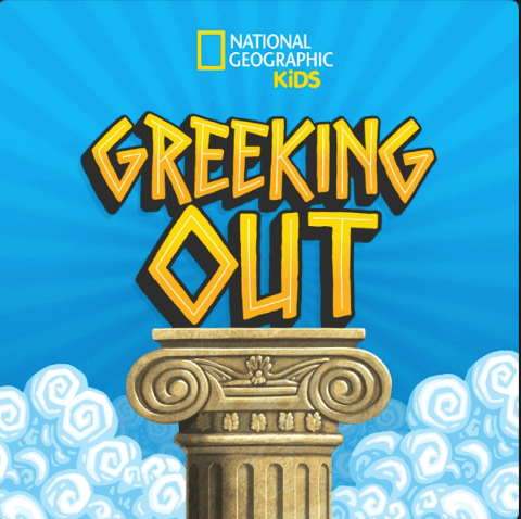 greeking out podcast cover art