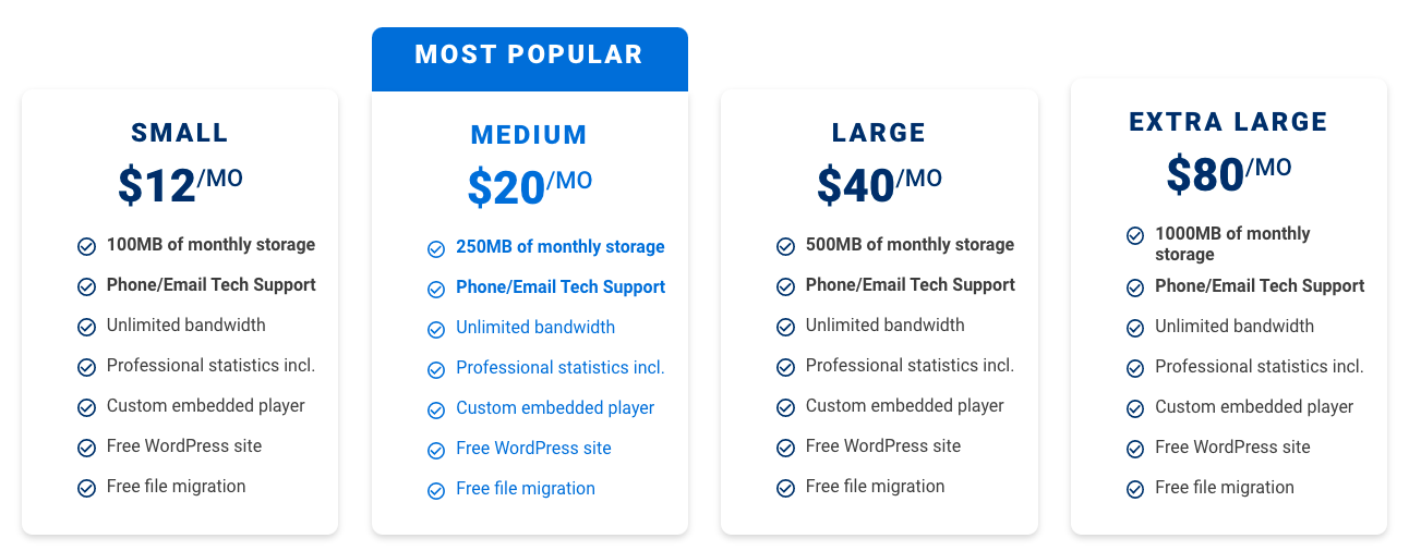 BluBrry pricing overview