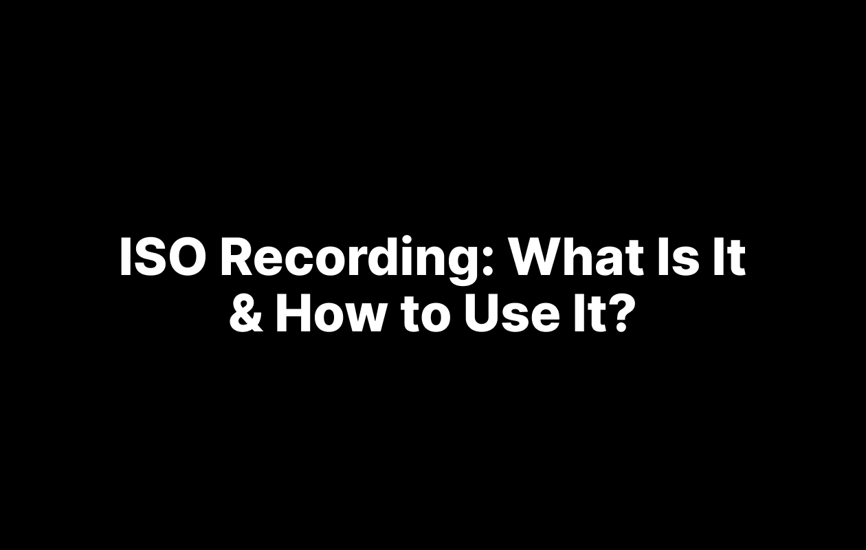 ISO recording article cover image