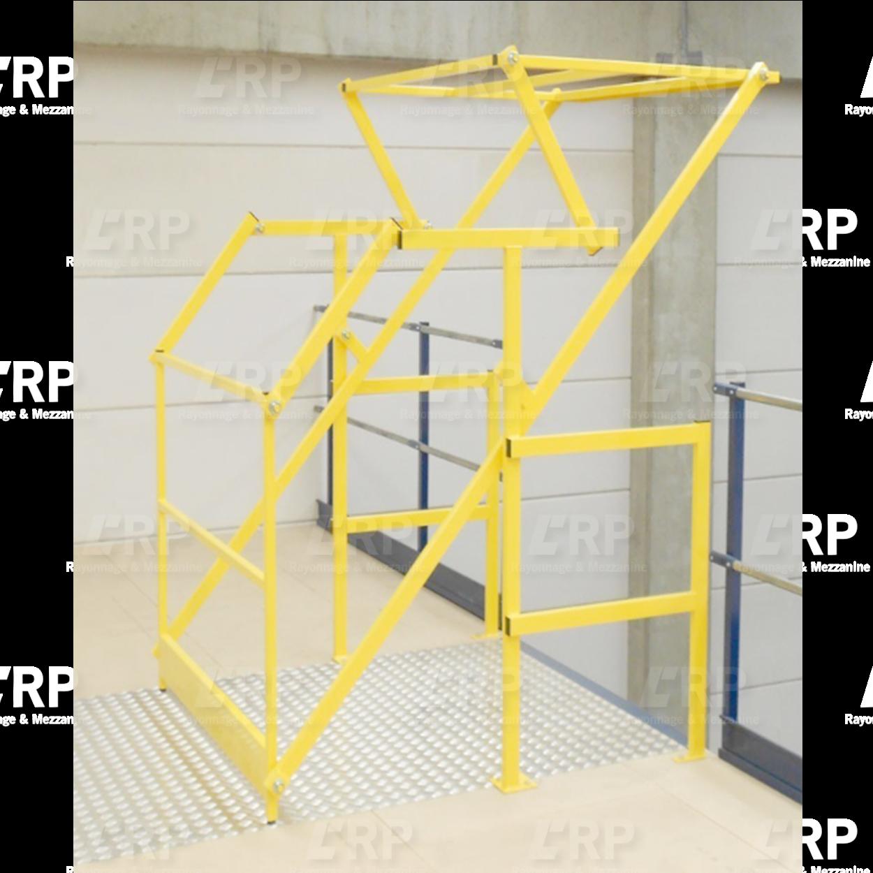 Sas de sécurité pour mezzanine de stockage / Barrière écluse de sécurité
