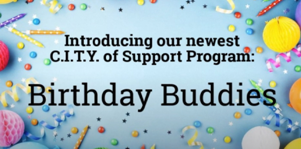 CITY of Support - Outreach Impact - Current Programs - Birthday Buddies