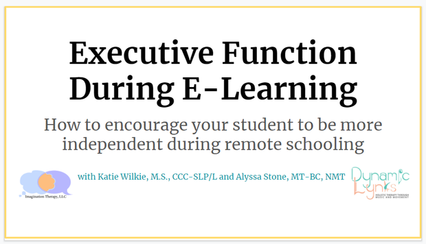 Accommodating Learning at Home - Executive Function During E-Learning