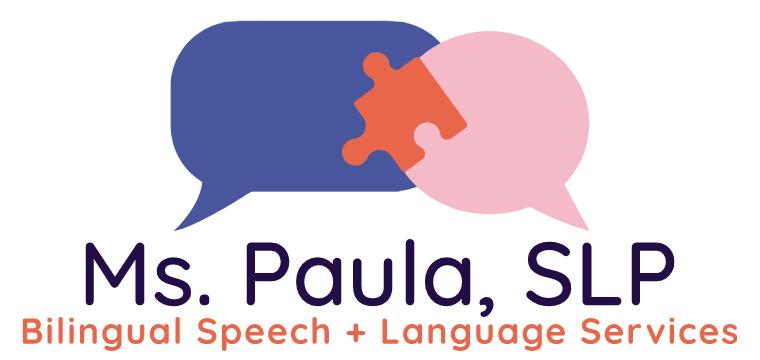 Ms. Paula, SLP Bilingual Speech + Language Services Logo