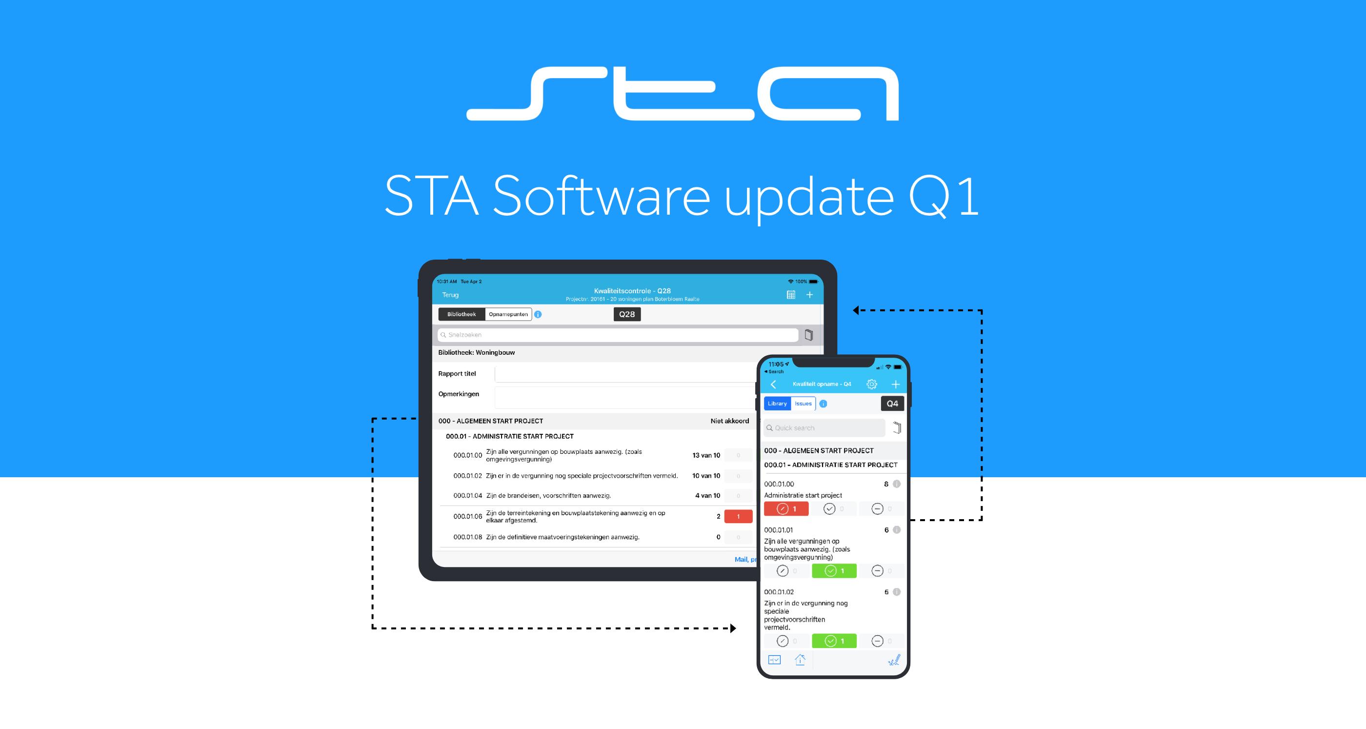 kwartaal update 1 sta software