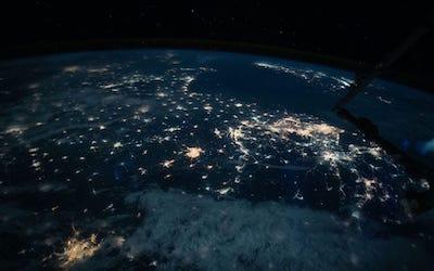 Chine vue de l'espace