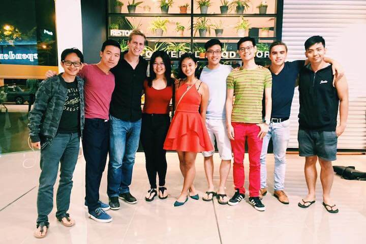 A group photo of the 9 people that joined the first ever Tribeless Dinner at Kuala Lumpur.