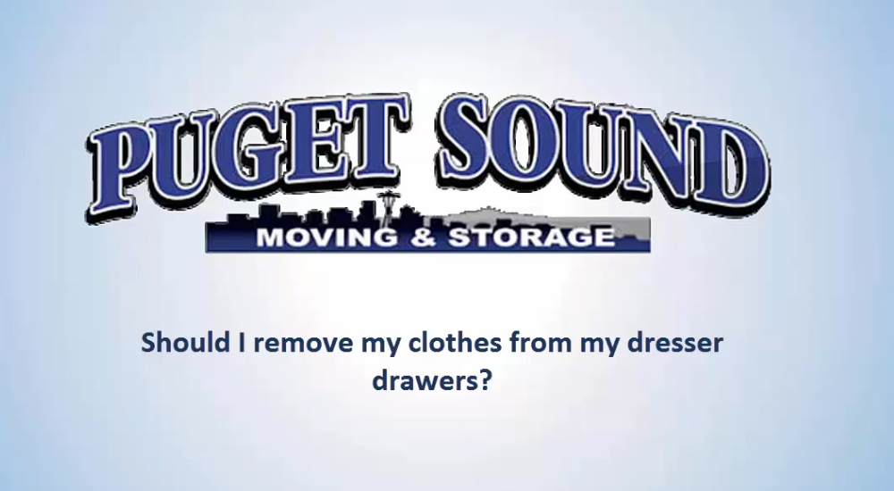 Should I Remove My Clothes From My Dresser Drawers When Moving?
