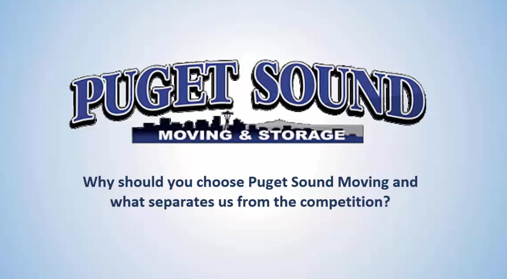 Why Choose Puget Sound Moving as Your Seattle Mover?