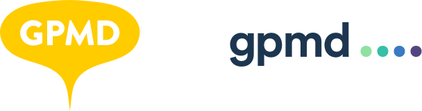 GPMD logos, old and new