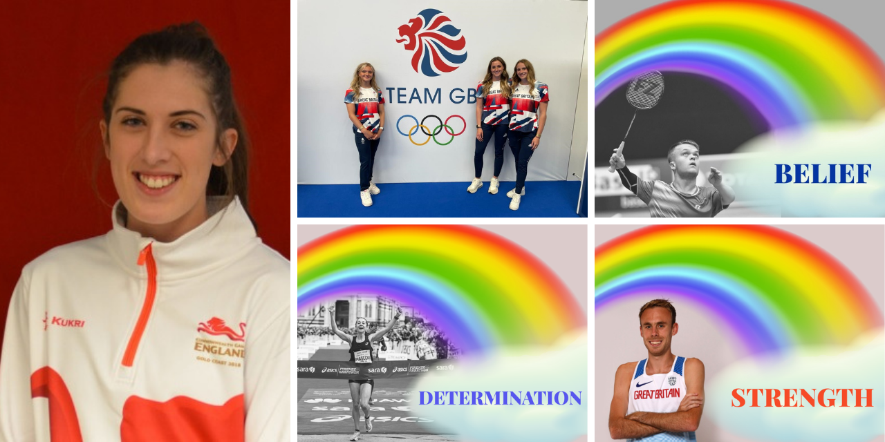 images of seven of the 10 DIS athletes going to Tokyo