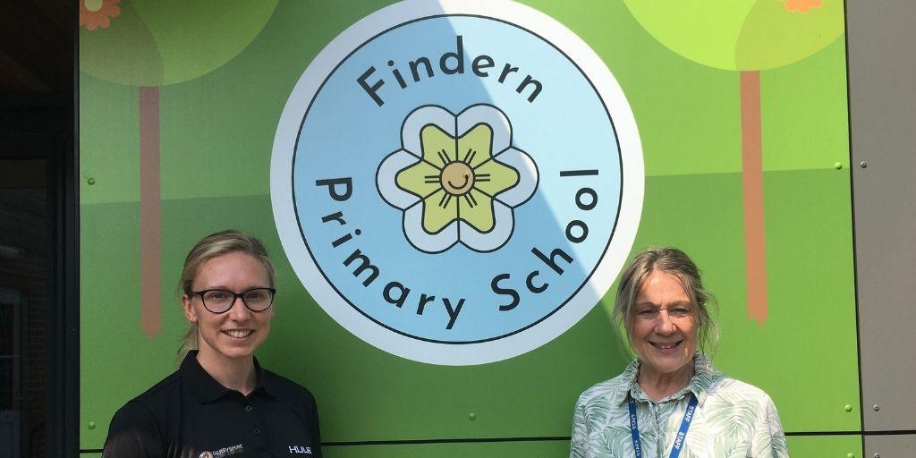 Laura Wake and Paula Fox at Findern Primary School