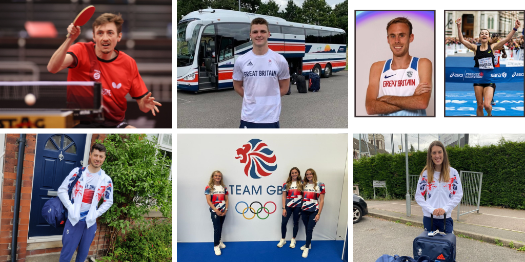 Images of nine former DIS athletes who competed at the Oympics