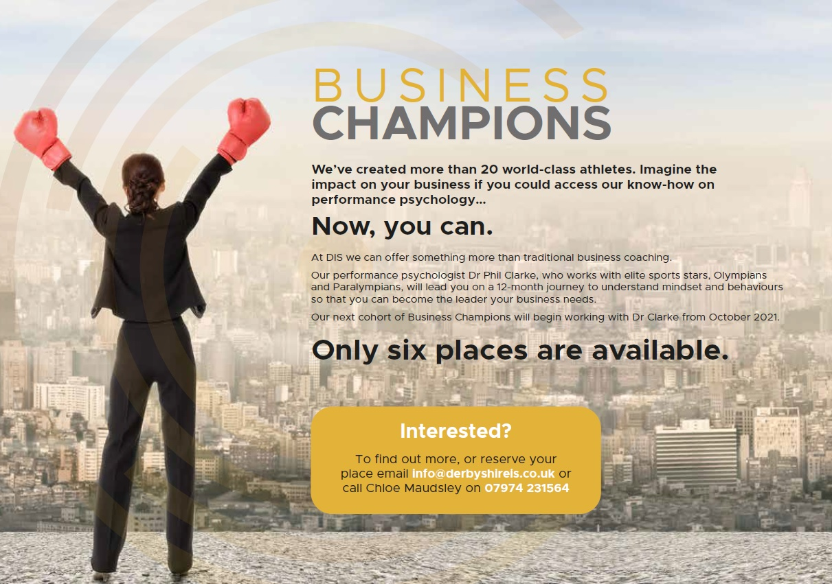 A promotional image for DIS Business Champions Programme