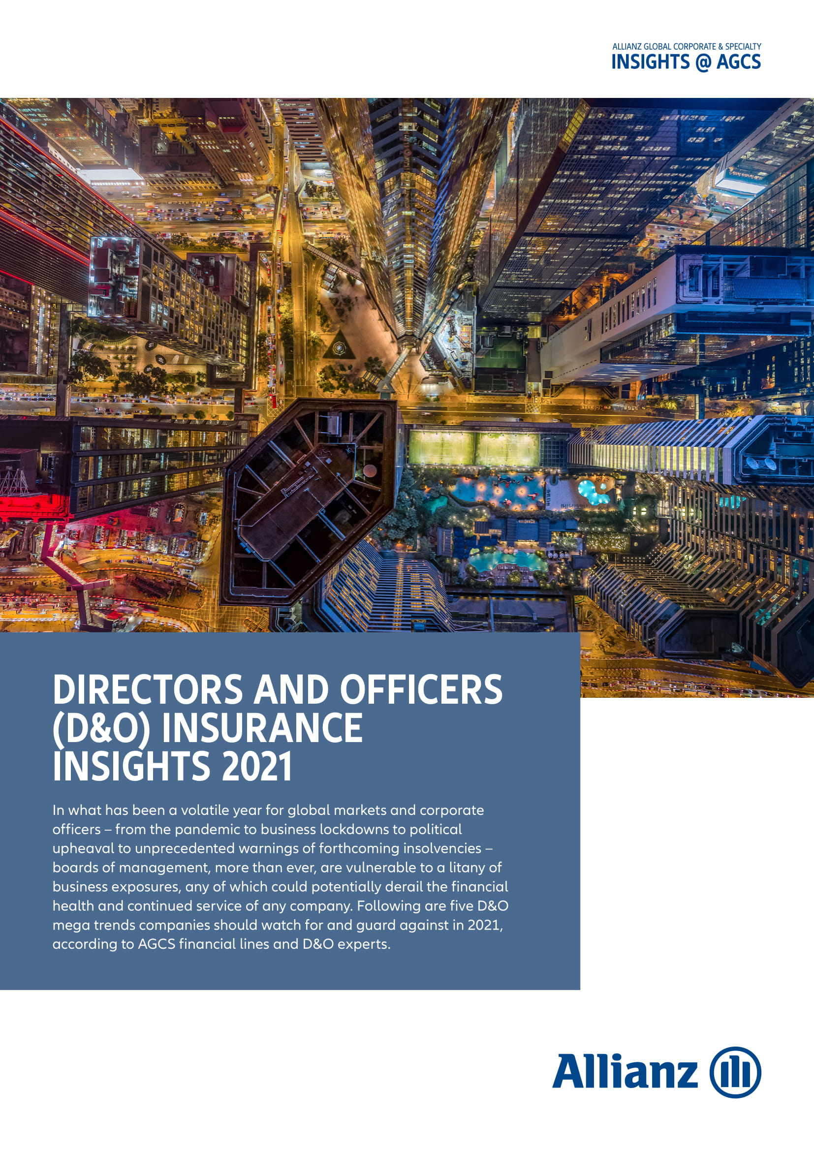 Directors and Officers Insurance Insights 2021