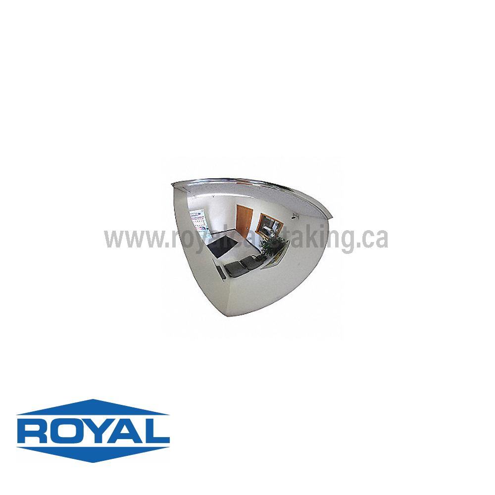 Dome Security Mirror - 90 Degrees ( Quarter Dome )
