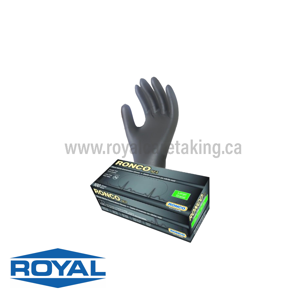 Ronco® NE4 & Sentron Black Nitrile Gloves