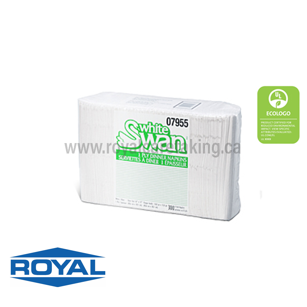 White Swan® 1-Ply Dinner, 8 Fold - 07955