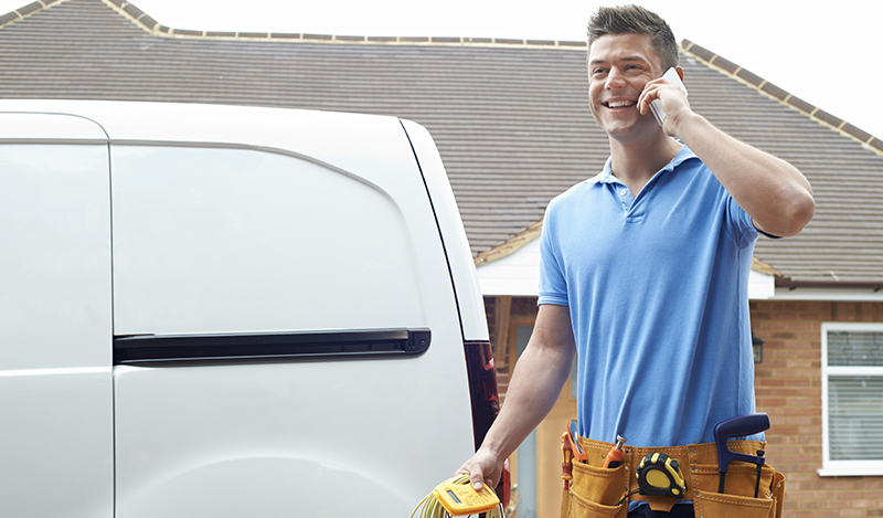 A Shipshape service pro responding to a call from you.