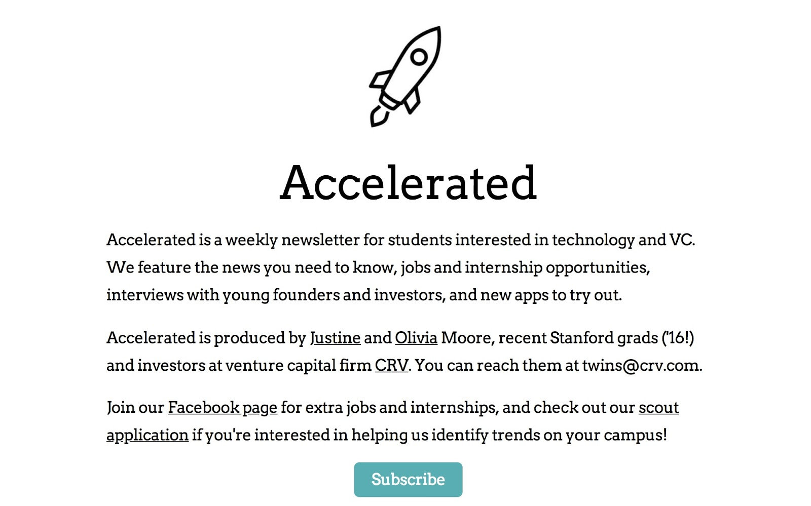 Accelerated Newsletter