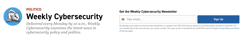 Weekly Cybersecurity