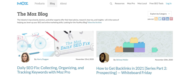 Blogs for entrepreneurs #6: Moz's blog