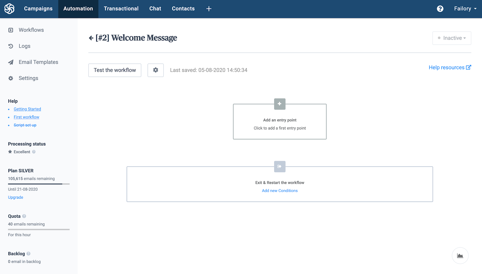 Sendinblue automation workflows