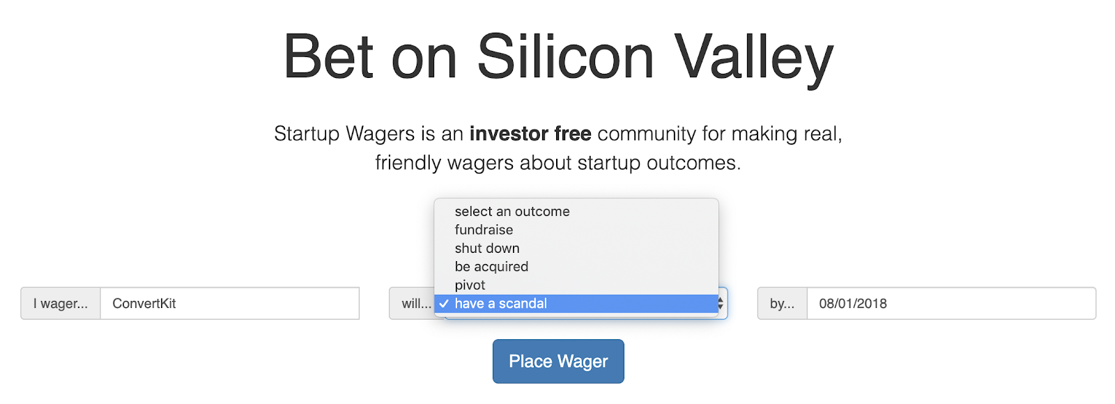 Startup Waggers - First Step